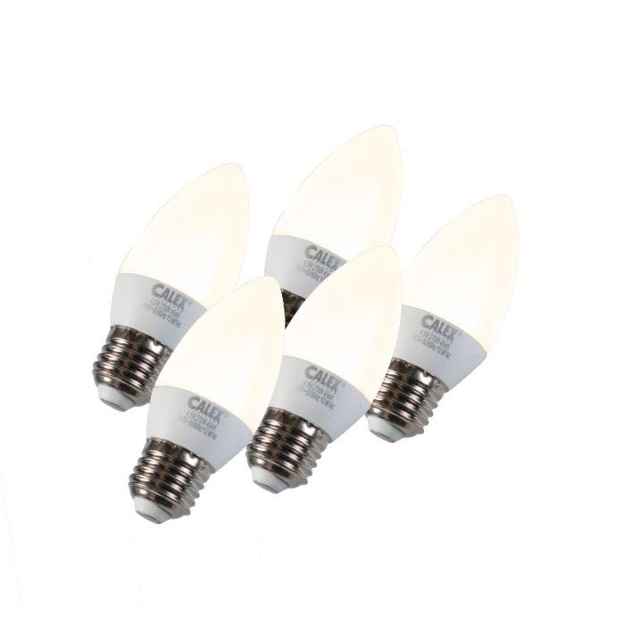 5-sveču-lampu-komplekts-LED-E27-5W-240V-2700K-aptumšojams