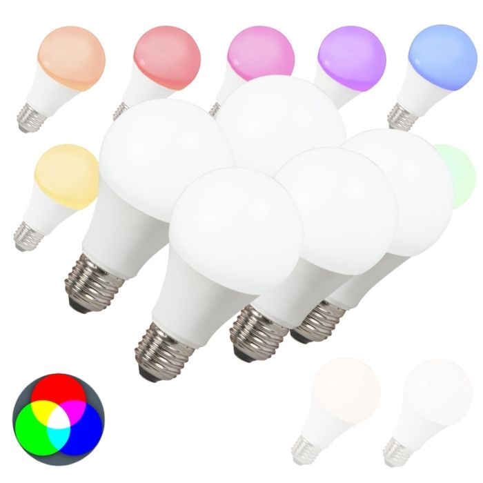 5-LED-spuldžu-komplekts-E27-240V-7W-500lm-A60-Smart-Light