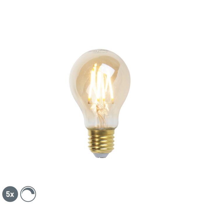 5-E27-regulējamo-LED-kvēlspuldžu-komplekts-goldline-360lm-2200K