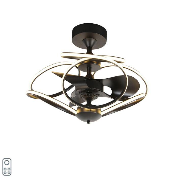 Dizaina-griestu-ventilators-ar-tālvadības-pulti,-ieskaitot-LED---Kauv