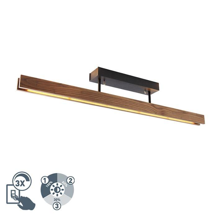 Lauku-griestu-lampas-koks-ar-LED-trīspakāpju-regulējamu---Holz