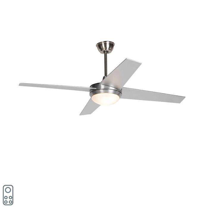 Griestu-ventilatora-tērauds-ar-LED-un-tālvadības-pulti---Roar-52