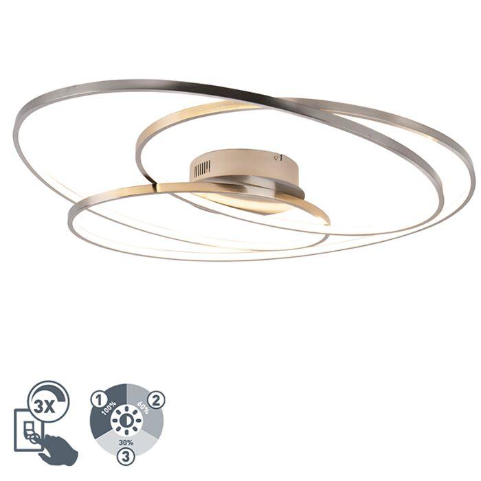 Griestu-lampas-tērauds-80-cm,-ieskaitot-LED-trīspakāpju-regulējamu---Rowin
