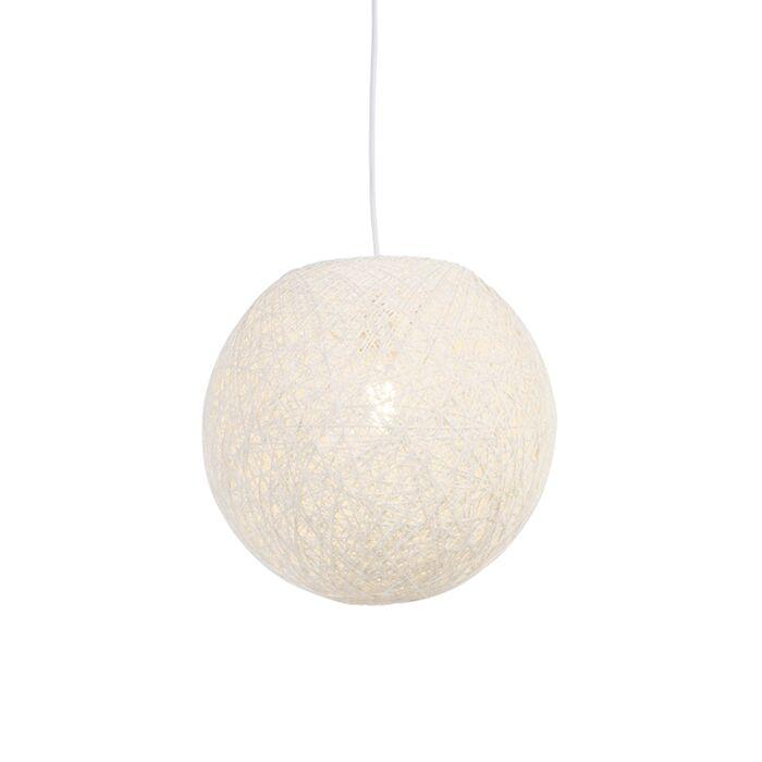 Lauku-piekaramā-lampa-balta-35-cm---Corda