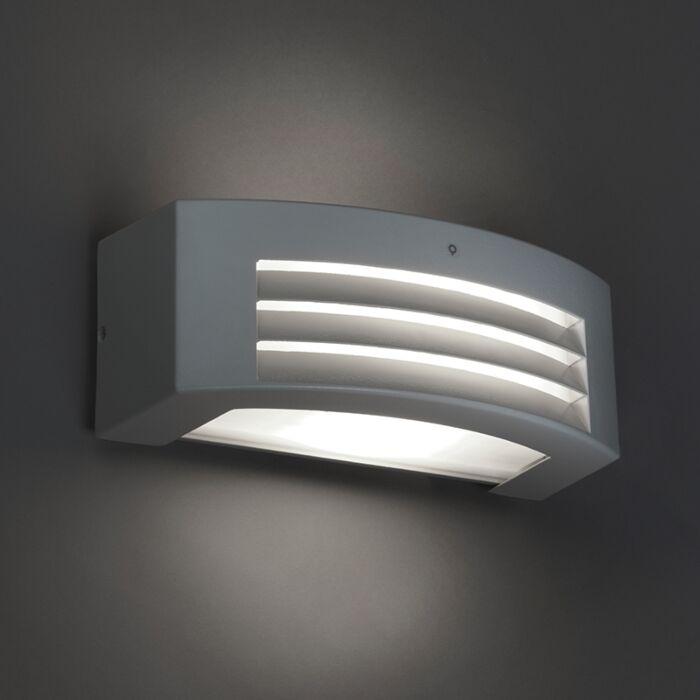 Mūsdienu-sienas-lampa-pelēka-IP44---viesuļvētra-1