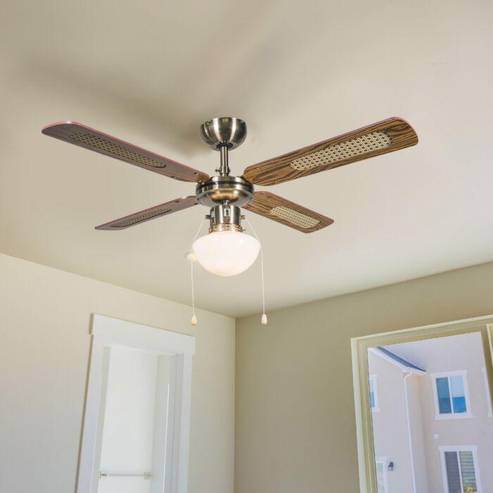 Rūpnieciskais-griestu-ventilators-ar-100-cm-koka-lampu---vējš