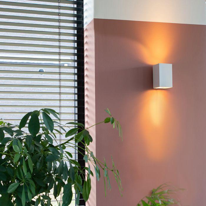 Mūsdienu-sienas-lampa-kvadrātveida-balta---Sandy