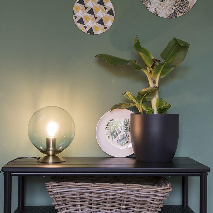 Art-deco-galda-lampa-misiņš-ar-zilu-stiklu---Pallon