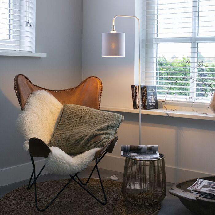 Moderna-grīdas-lampa-balta---Lofty