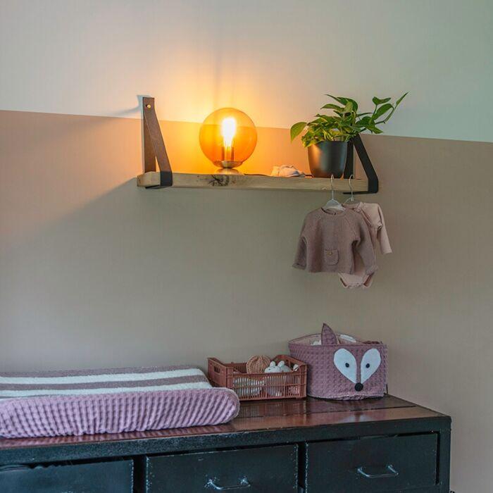 Art-deco-galda-lampa-misiņš-ar-rozā-stiklu---Pallon