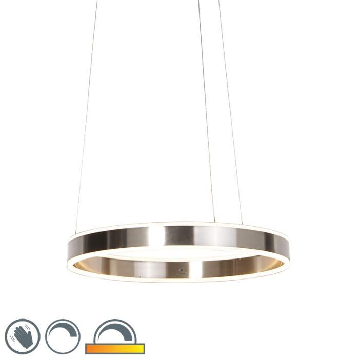 Mūsdienu-piekarināmās-lampas-tērauds,-ieskaitot-LED-60-cm-no-gaismas-līdz-siltumam---Ollie