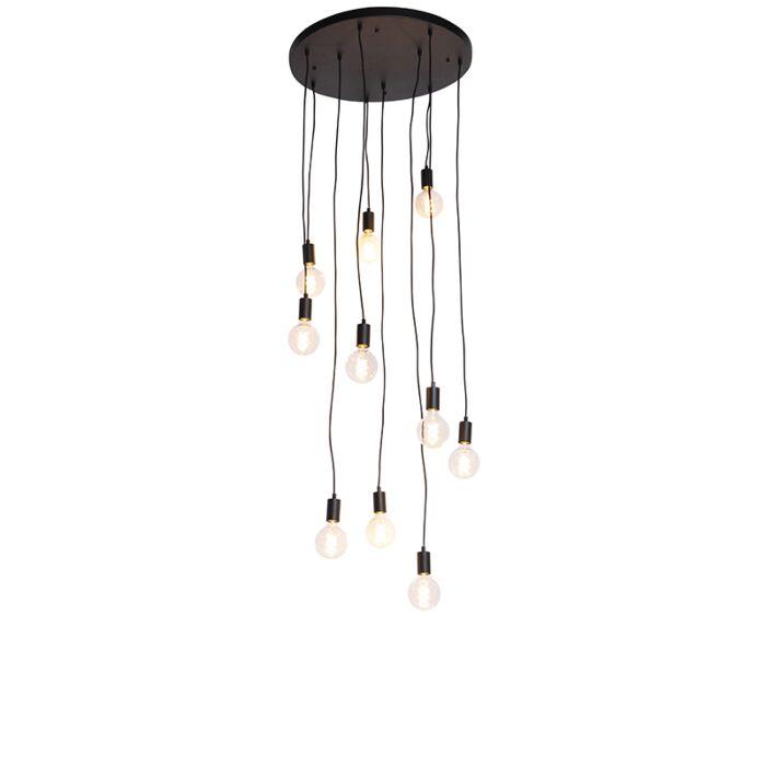 Mūsdienu-piekarināmā-lampa,-melna,-60-cm-10-gaismas---Facil