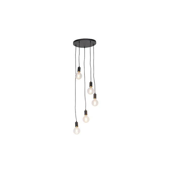 Moderna-piekarināmā-lampa-melna-35-cm-5-gaismas---Facil